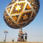 Holding up the Big Egg in Vegerville, AB May 12, 2018