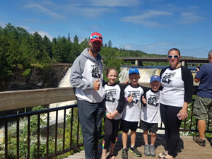 The Lefebvre's Make it to Kakabeka Falls June-24