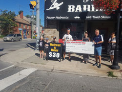 Donation from barbershop in Perth