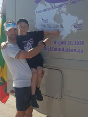 Kallyan and Dad showing us where they are.