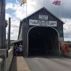Longest covered bridge in the World.