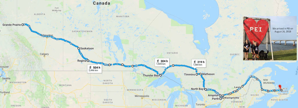 We crossed over the bridge from NB to PEI on August 26, 2018 - what an accomplishment!
