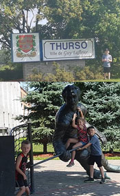 Ville du Thurso, home of Guy Lafleur - kids found this interesting